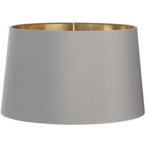 Rv Astley Grey Shade With Gold Lining 48cm