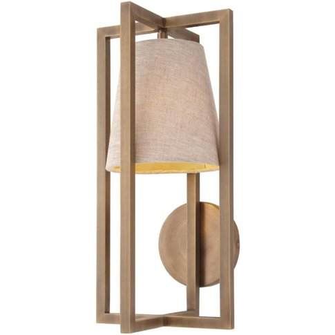 RV Astley Hurricane Wall Lamp Antique Brass Finish T...