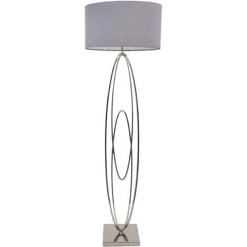 Rv Astley Oval Rings Nickel Floor Lamp