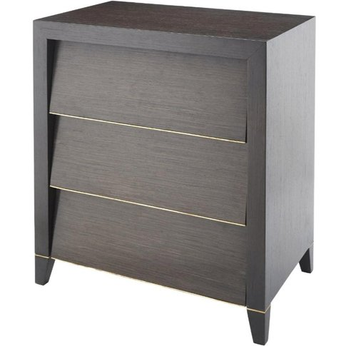 RV Astley Radway Large Bedside Table in Dark Brown