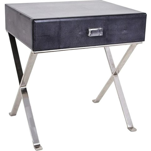 Rv Astley | Shagreen Side Table (Dark Grey) | Design...