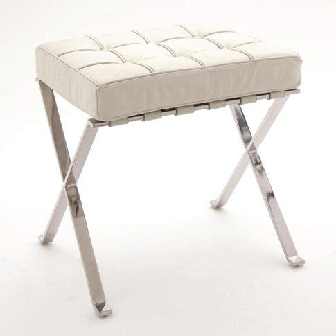 Rv Astley | Sienna Stool With White Cushion | Design...