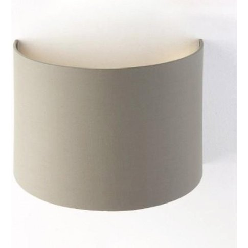 Rv Astley Soft Brown Wall Shade With Gold Lining