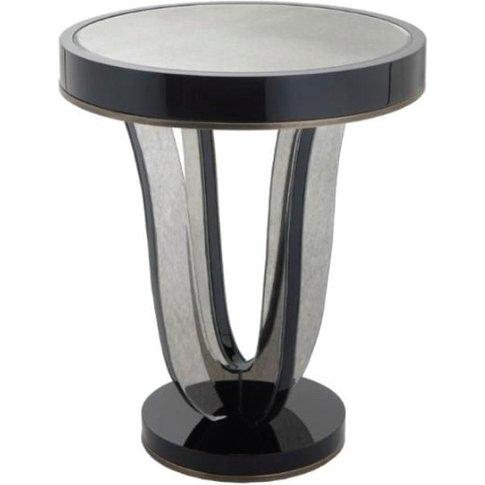 Rv Astley Termon Gloss Black And Antique Mirror Side...