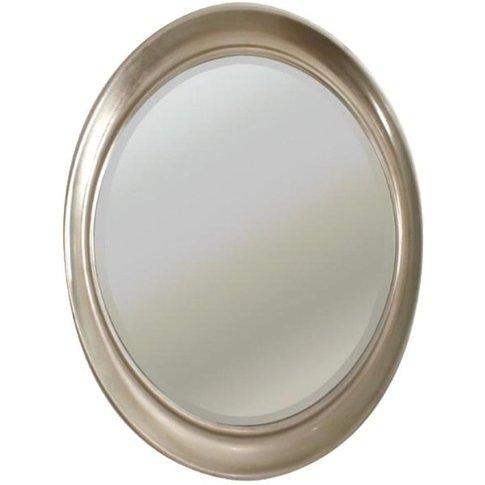 Rv Astley Vance, Silver Leaf Finish Oval Mirror