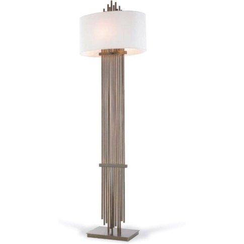Rv Astley Vienna Antique Brass Finish Floor Lamp