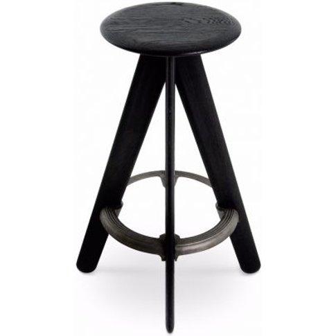 Tom Dixon Slab Bar Stool Black / Black