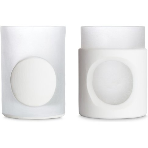 Tom Dixon - Carved Stem Vase Set Of 2 White