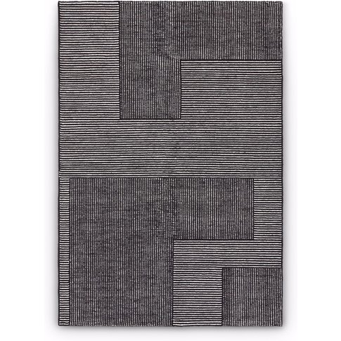 Tom Dixon - Stripe Rug Rectangular Black And White