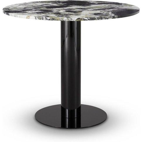 Tom Dixon - Tube Dining Table Black Primavera Top 900mm