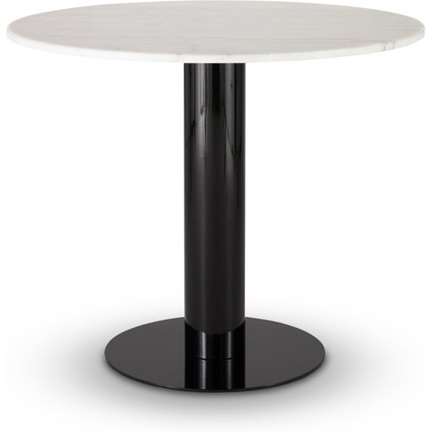 Tom Dixon - Tube Dining Table White Marble Top 900mm