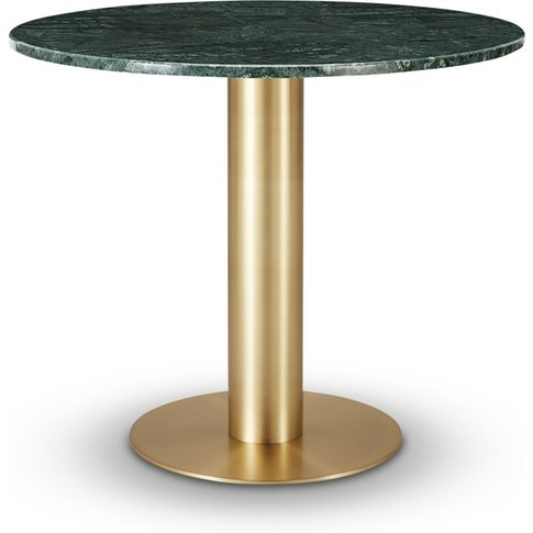 Tom Dixon - Tube Dining Table Brass Green Marble Top...