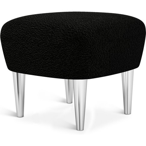 Tom Dixon - Wingback Ottoman Chrome Leg Storr 0157