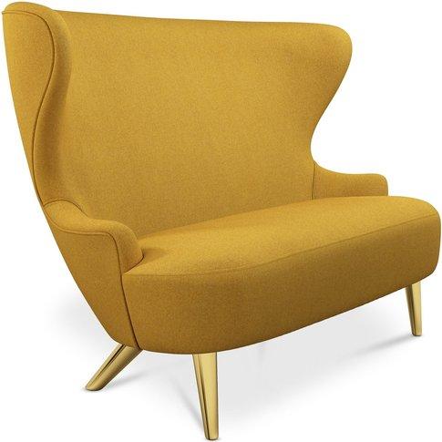 Tom Dixon - Micro Wingback Sofa Brass Leg Melange Na...