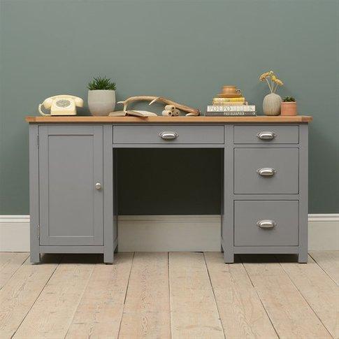Sussex Grey Double Pedestal Desk