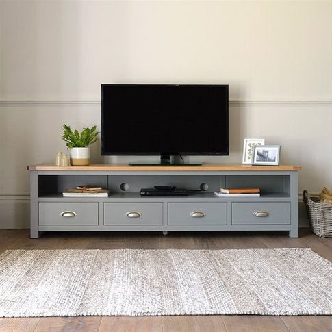 Sussex Grey Extra Large Tv Stand - Up To 80''