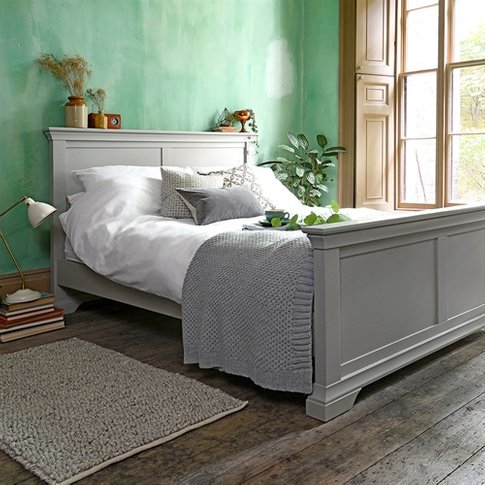 "Chambery Grey Painted 4ft 6"" Double Bed"