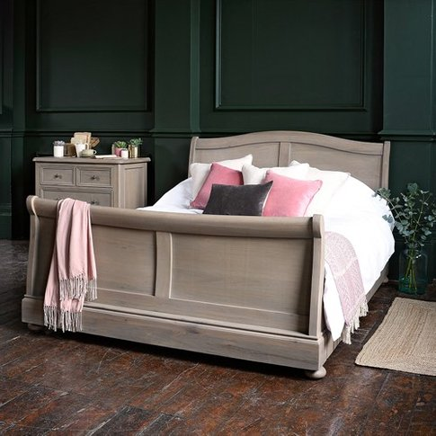 Hadley Smoked Oak High Foot End 5ft Sleigh Bed