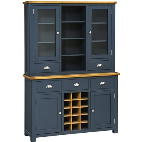 Westcote Blue Dresser with Wine Rack