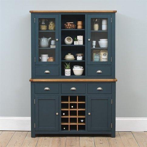 Westcote Inky Blue Dresser With Wine Rack