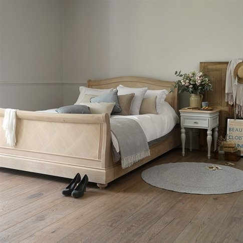 Ashwicke Grey Painted 6ft Super King Sleigh Bed