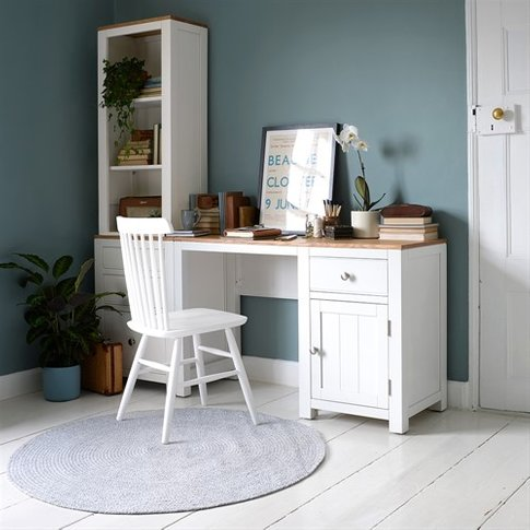 Chalford Painted Desk With Bookcase And Filing Cabinet