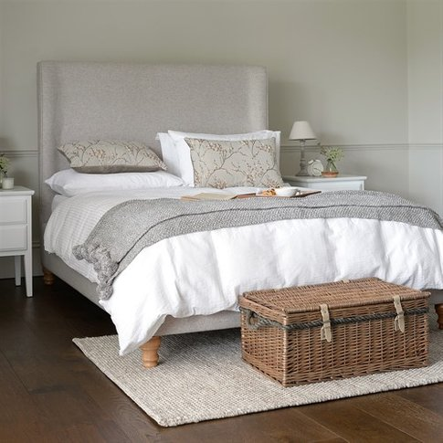 "Laurie Upholstered 4ft 6"" Double Bed - Oatmeal"
