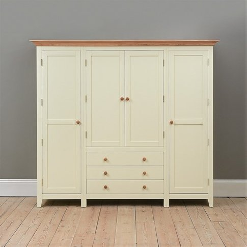Mottisfont Painted Four Door Wardrobe
