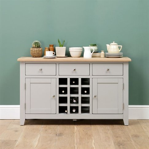 Chester Grey Sideboard with Wine Rack