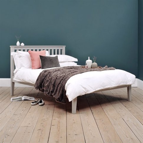 4ft Small Double Bed - Grey