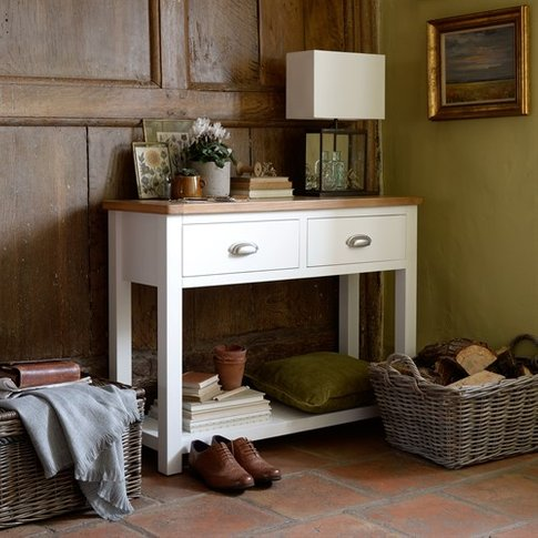 Snowshill White Console Table