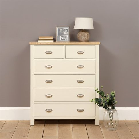 Simply Cotswold Cream Painted 2+4 Chest Of Drawers