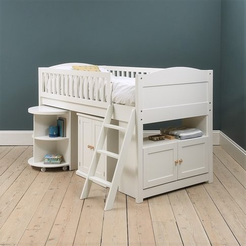 Littleton White Painted Mid-Sleeper With Desk