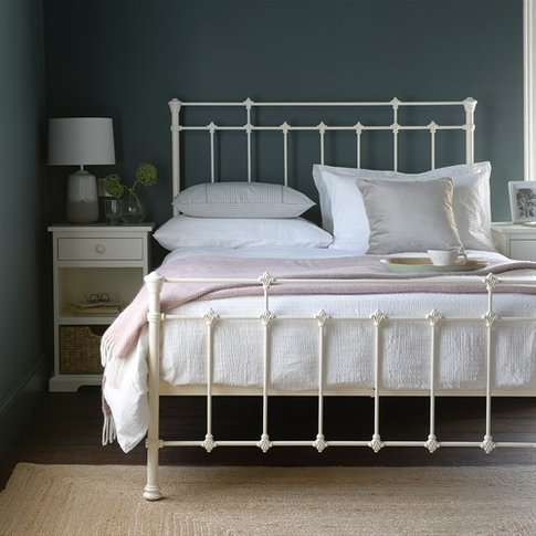 """Hatton 4ft 6"""" Double Bed - Ivory"""