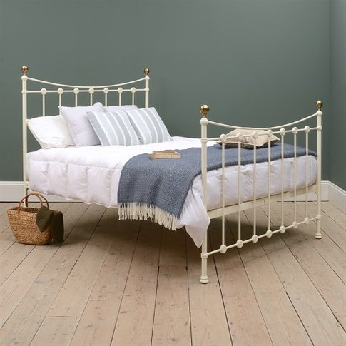 """Rosehill 4ft 6"""" Double Bed - Ivory"""