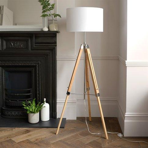 Easel Floor Lamp - Light Wood