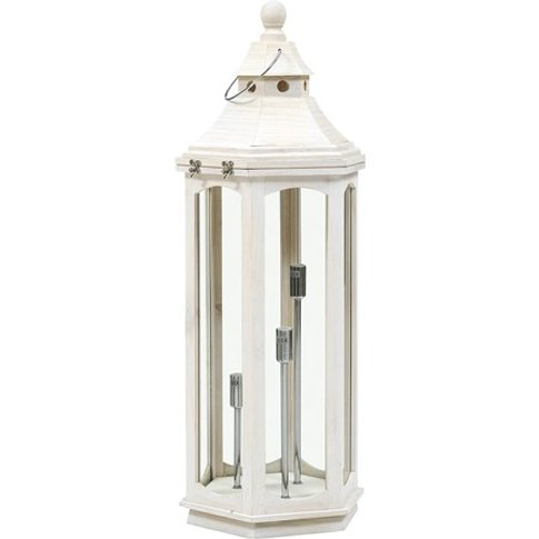 Safaa Lantern Style Floor Lamp - White