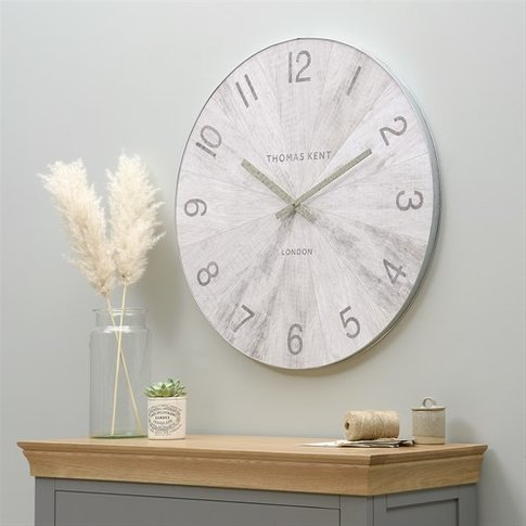 Wharf Wall Clock - Pickled Oak
