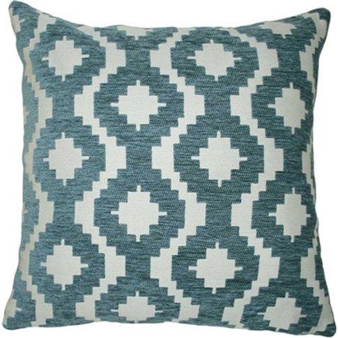 Wedgewood Blue Geometric Cushion