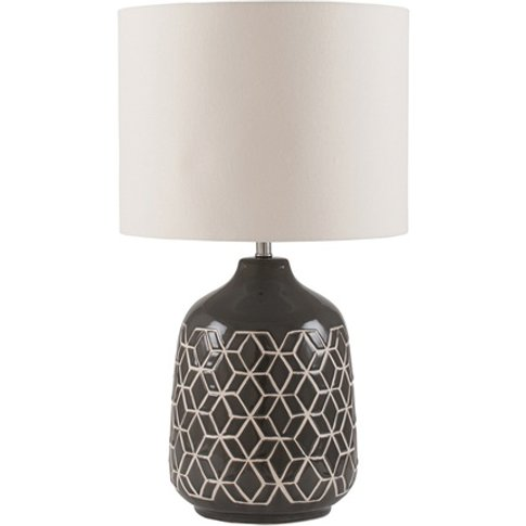 Black Honeycomb Geometric Table Lamp