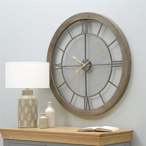 Hamilton Wall Clock - Natural Wood