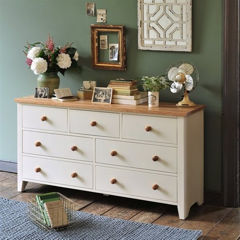 Mottisfont Painted Wide 7 Drawer Chest