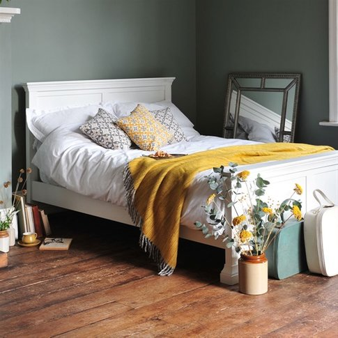 Chantilly White 5ft Kingsize Bed