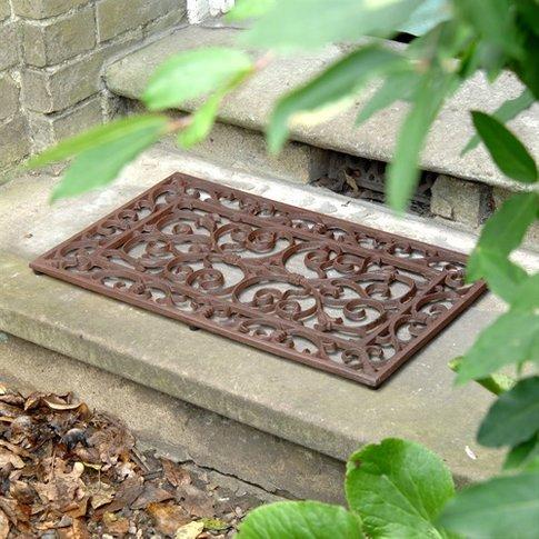 Cast Iron Rectangular Doormat