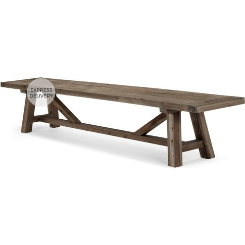 Iona Extra Large Bench, Solid Pine