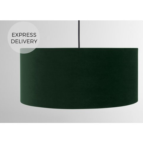 Carmella Pendant Lamp Shade, Forest Green Velvet