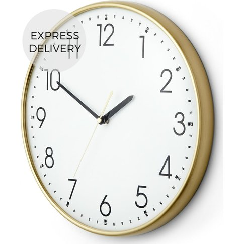 Disley Wall Clock, Polished Brass