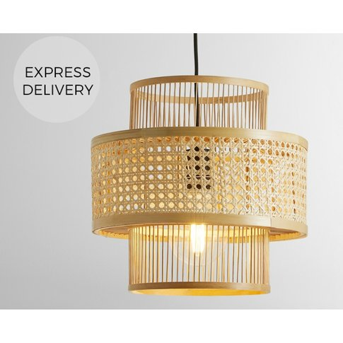Yen Pendant Shade, Natural Bamboo