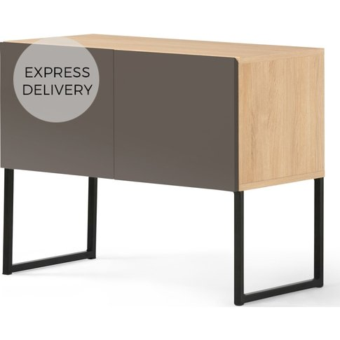MADE Essentials Hopkins Sideboard, Oak and Grey