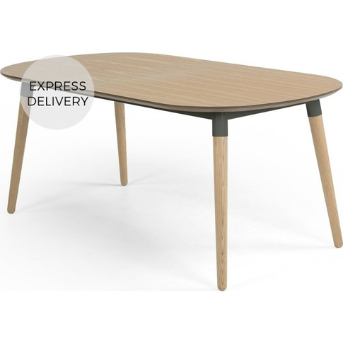 Edelweiss 6-8 Seat Oval Extending Dining Table, Ash ...
